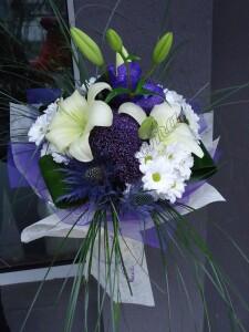 букет-орхидея-ванда-трахелиум-лилиум-хризантема